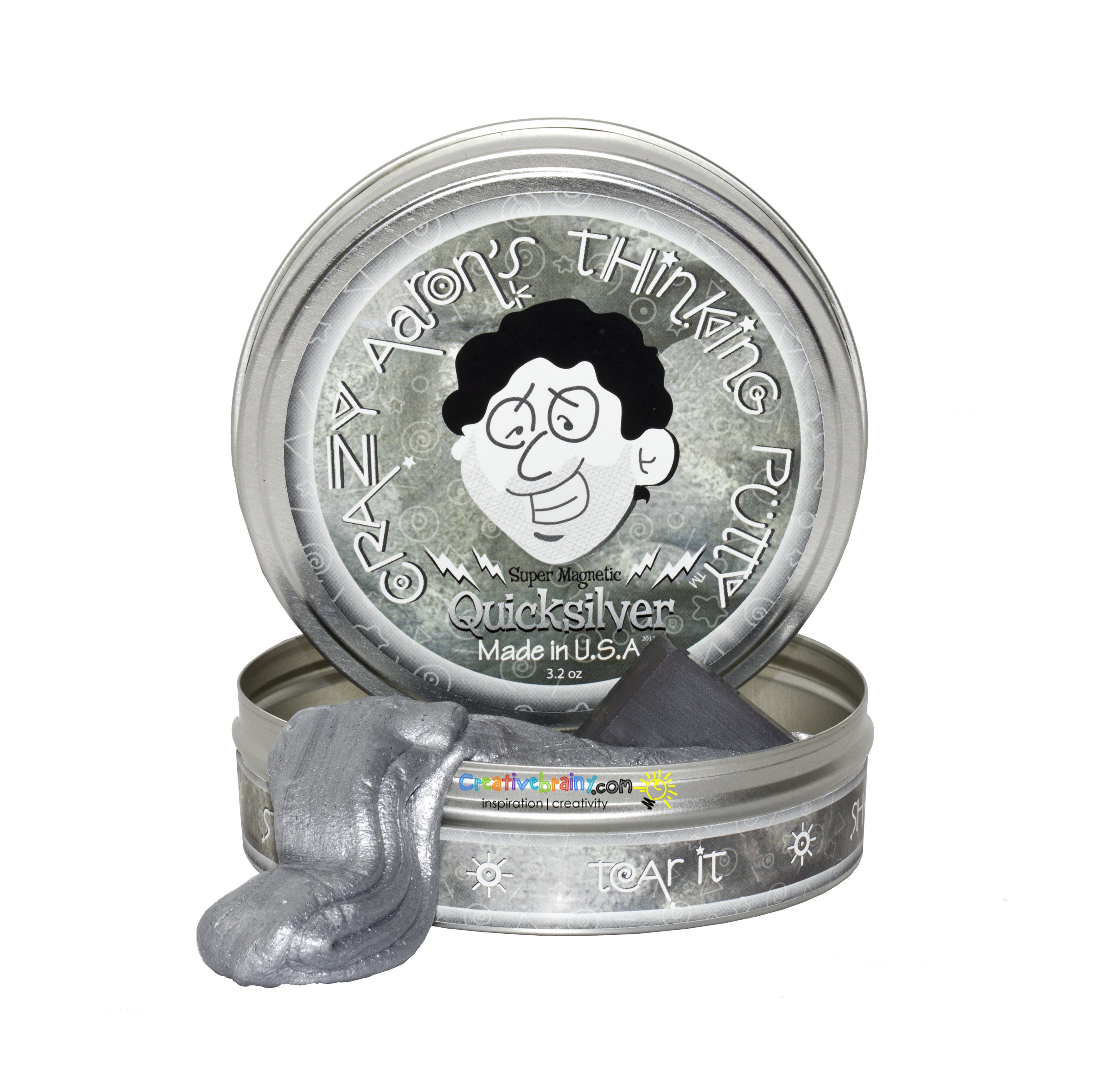 crazy aaron s putty super magnetic quicksilver with magnet