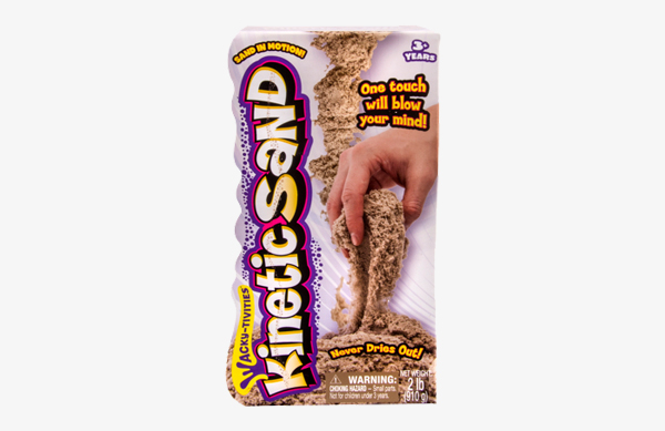 Shimmering Metallic Silver 1lb Pack Kinetic Sand for Ages 3 and Up